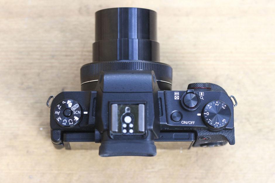 Canon G1 X Mark III objectif déployé