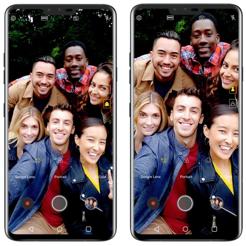 LG V40 Selfie Dual Camera