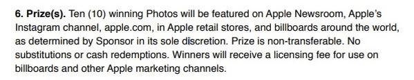 Règles Concours Photo Apple Après