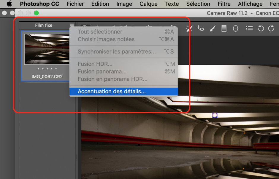 Capture Camera Raw 11.2 Accentuation Des Détails