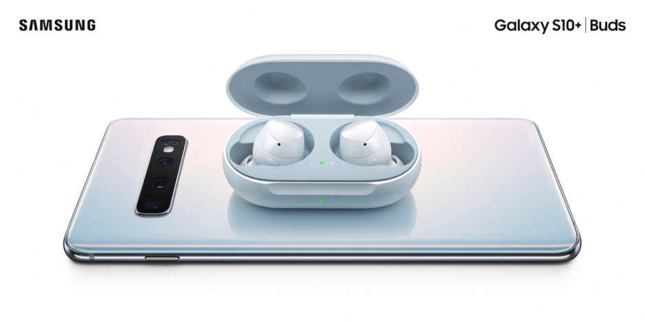 Samsung Galaxy S10 Plus White Galaxy Buds