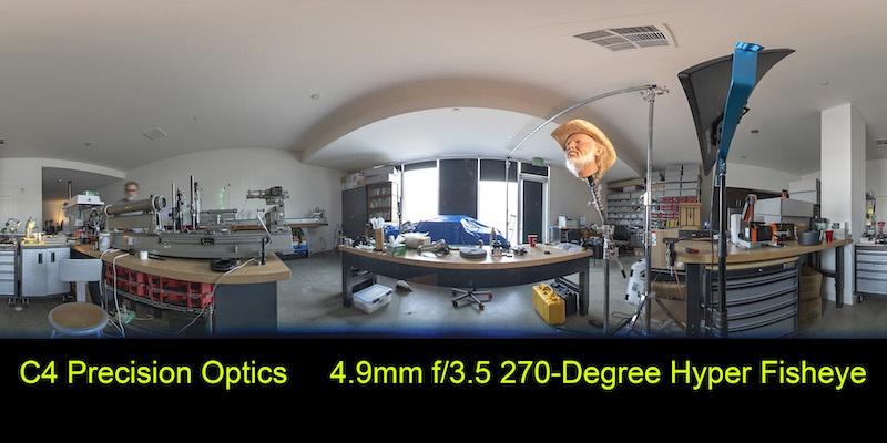 C 4 Optics 4,9 Mm F3,5 Hyperfish Prototype Sample 2