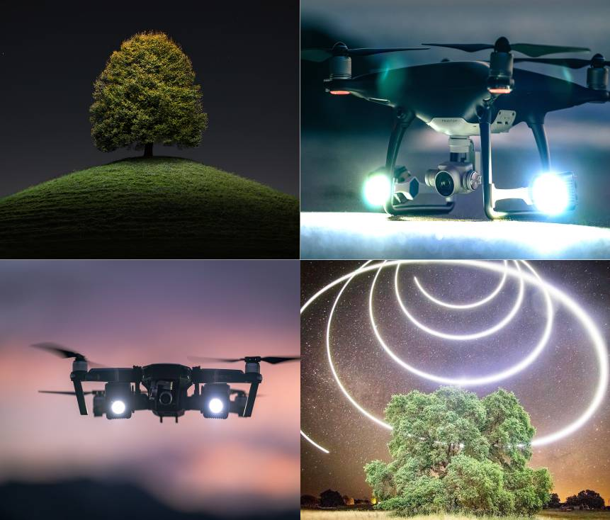 Lume Cube éclairage Drone