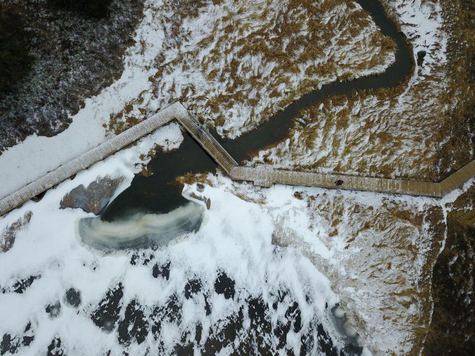 Rivière et lac gelé - DJI Mavic Pro - Jean-Nicolas Lehec