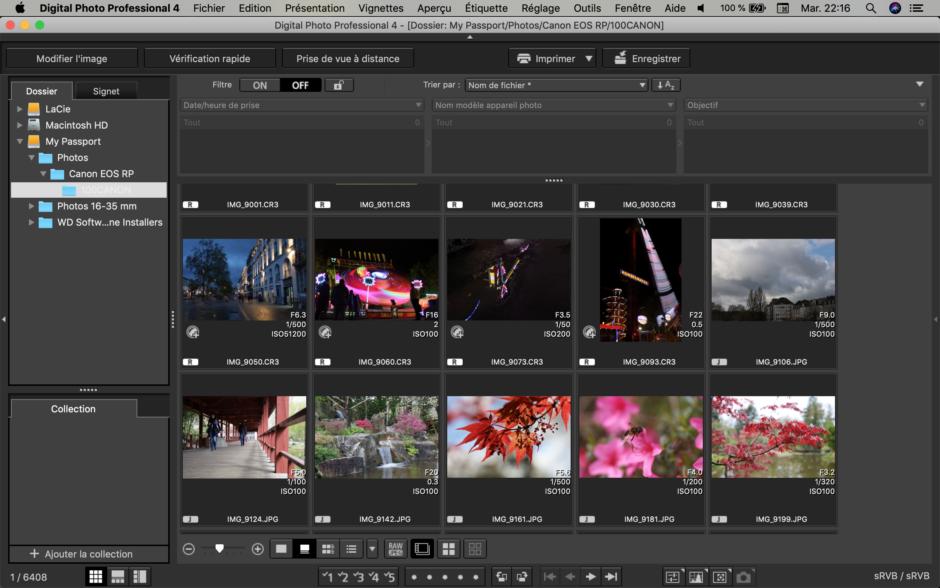 Canon Digital Photo Professional EOS RP.
