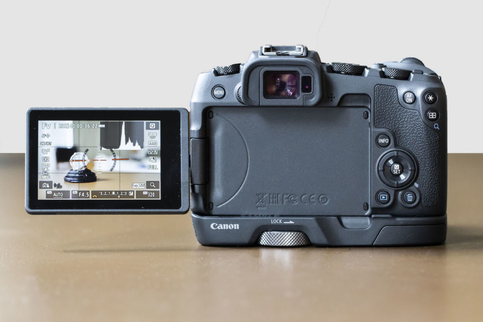 Canon EOS RP arrière écran sur rotule
