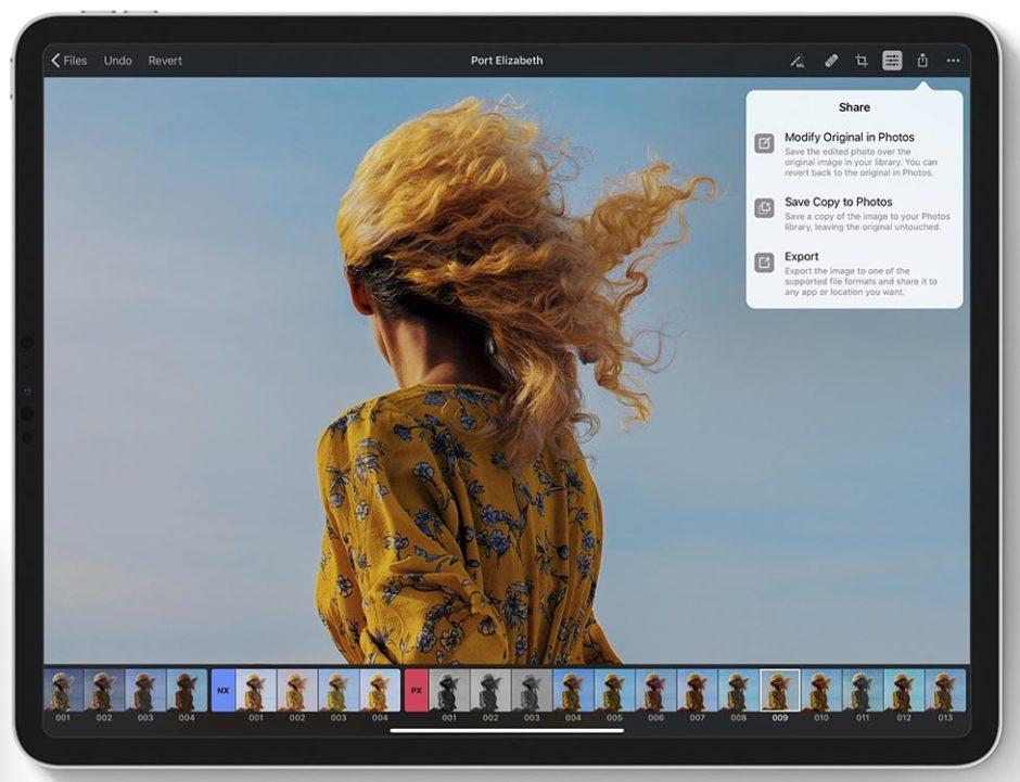 Pixelmator Photo Interface