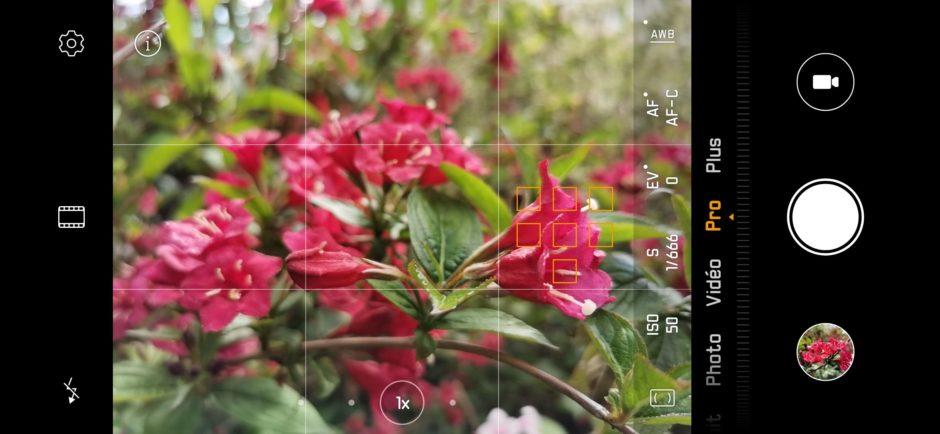 Huawei P30 Pro Capture mode Pro AF