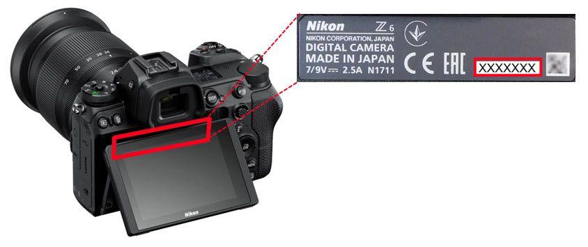 Nikon Numéro De Série Z 6 Z 7