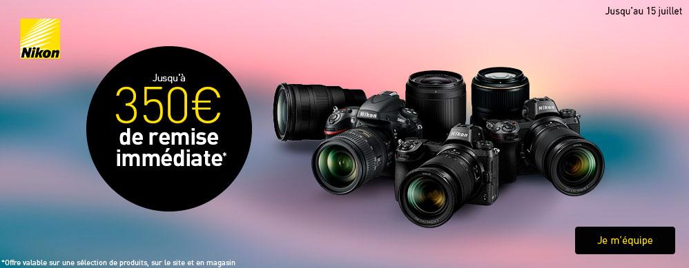 ODR Nikon été 2019 : jusqu'à 350 € de remise immédiate sur boîtiers et objectifs à monture F et Z