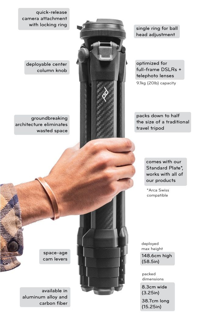 Peak Design Travel Tripod Characteristics