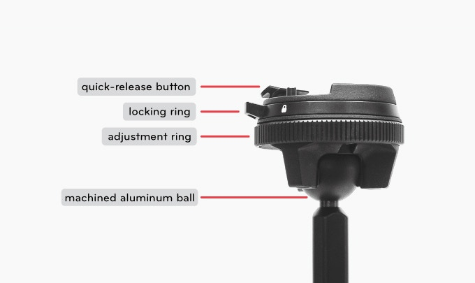 Peak Design Travel Tripod Low Mode Rotule