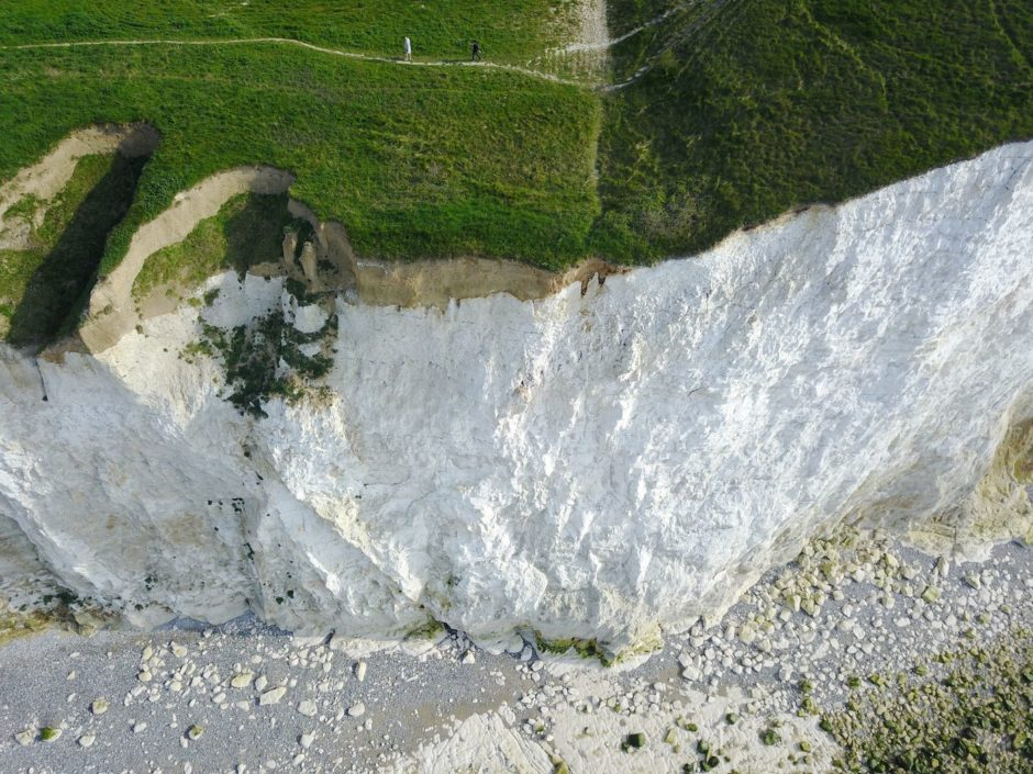 Drone falaise Normandie
