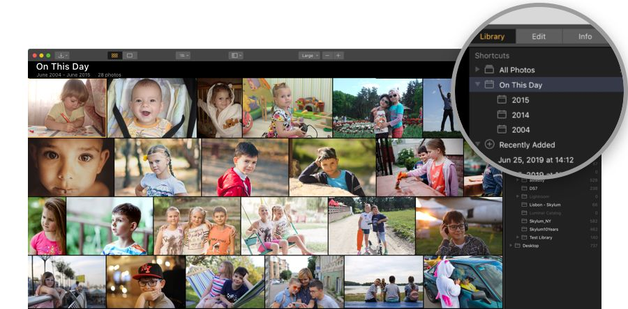 Luminar 3.1.2 On This Day Feature