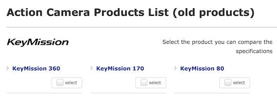 Nikon KeyMission discontinued