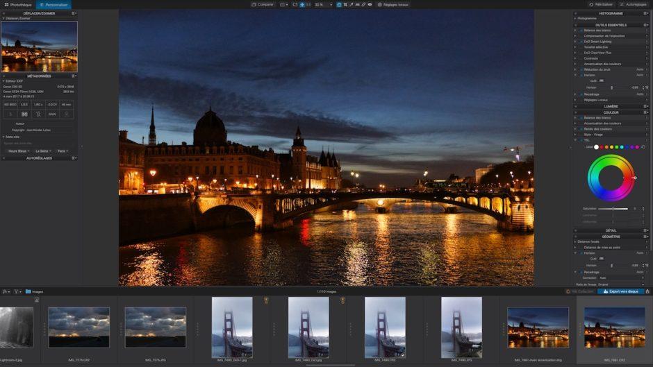 DxO PhotoLab 3 interface principale