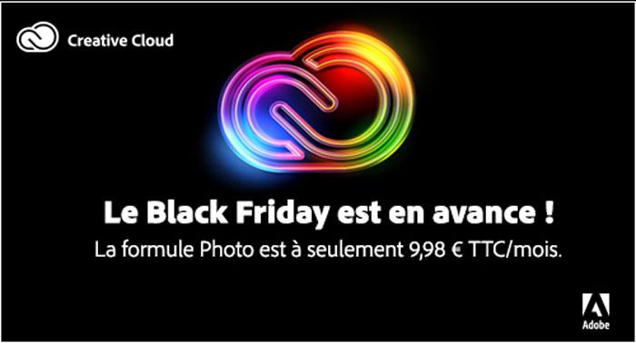 Adobe anticipe le Black Friday avec une offre Creative Cloud pour la Photo à 9,98€ / mois