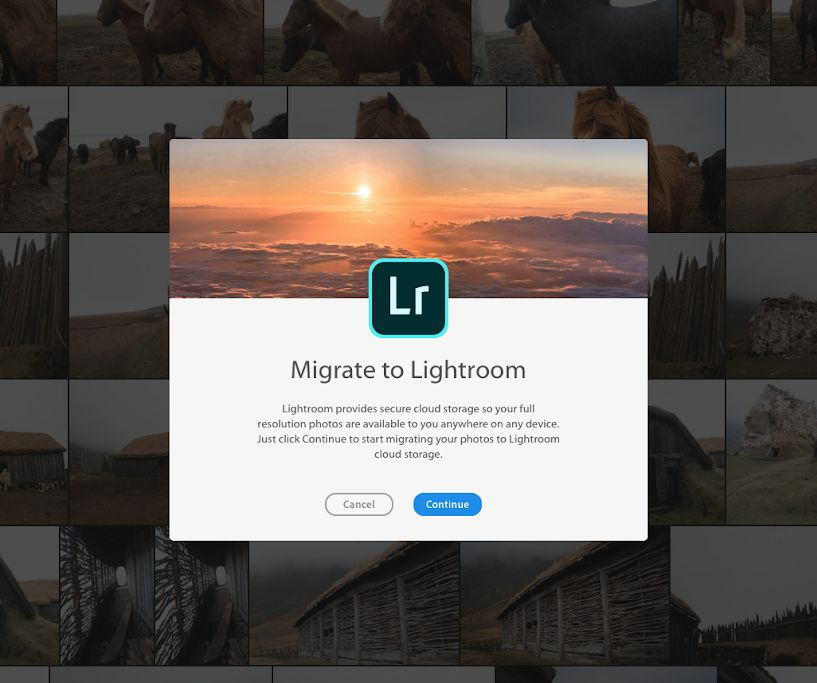 Lightroom migration Photoshop Elements