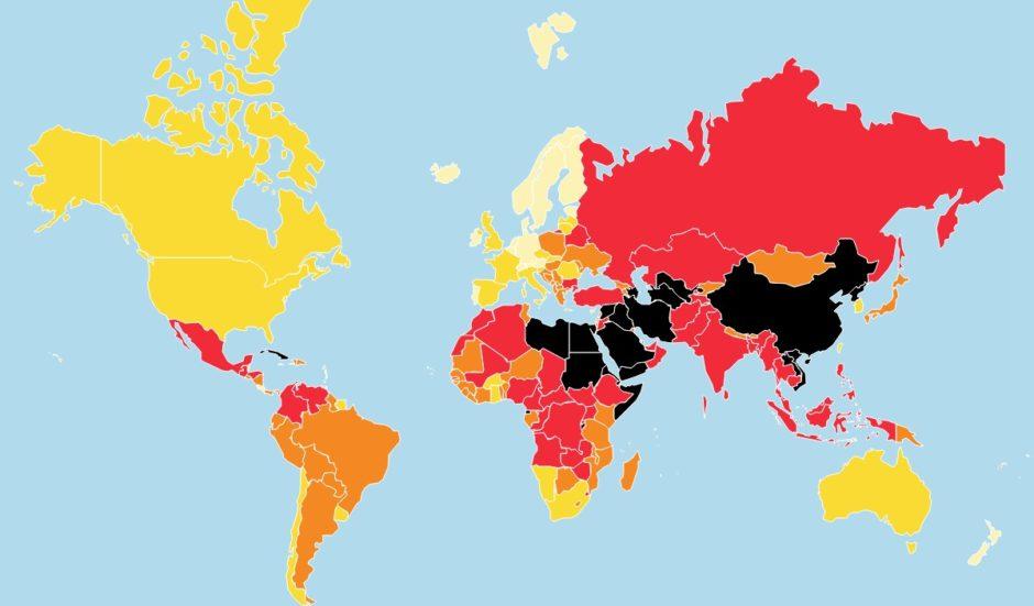 Reporters sans Frontières carte classement mondial liberté de la presse 2019