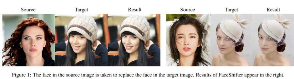Montages de l'outil FaceShifter