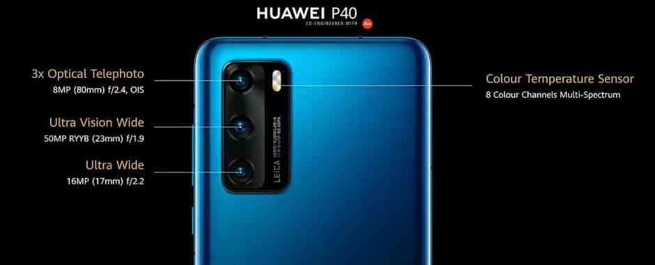 Huawei P40 capteurs photo