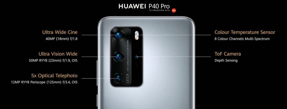 Huawei P40 Pro capteurs photo