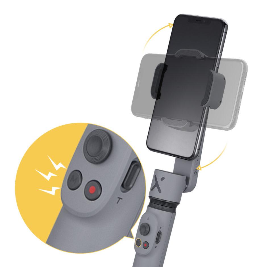 Zhiyun Smooth X 3 boutons de contrôle