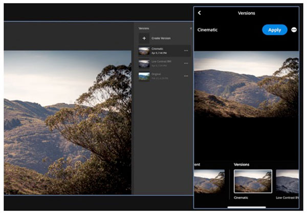 Adobe Lightroom versions image