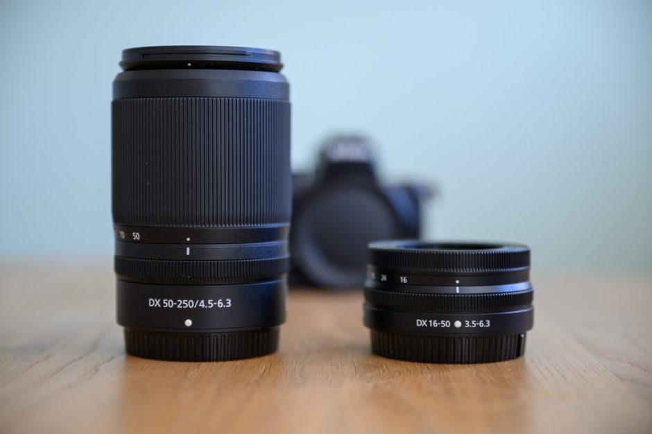 Objectifs NIKKOR Z DX 50-250mm f/4,5-6,3 VR et NIKKOR Z DX 16-50mm f/3,5-6,3 VR