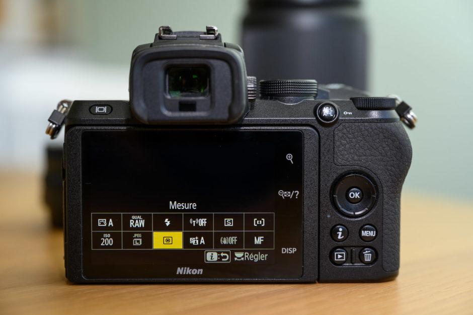 """Menu """"i"""" du Nikon Z 50 entièrement personnalisable"""