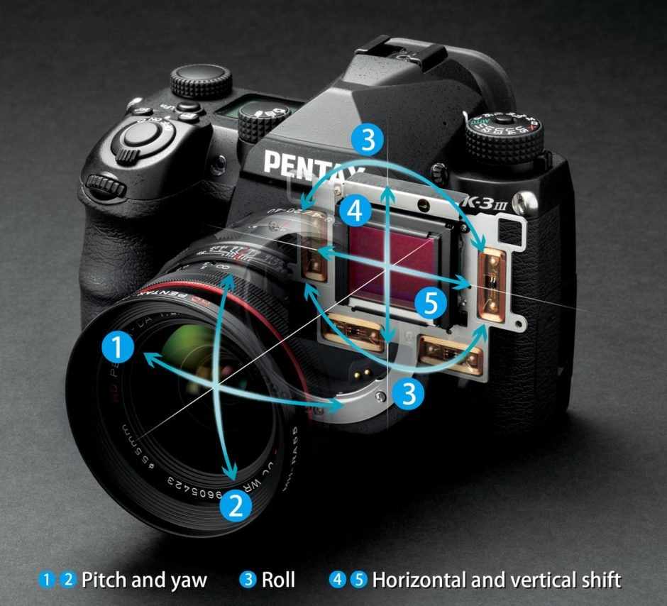 Pentax K-3 Mark III stabilisation 5 axes