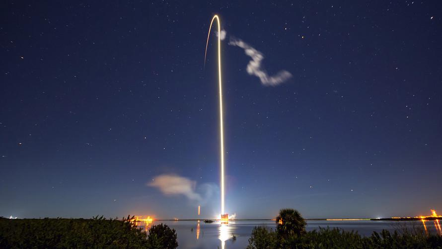 Starlink Astrophoto lancement fusée Space X