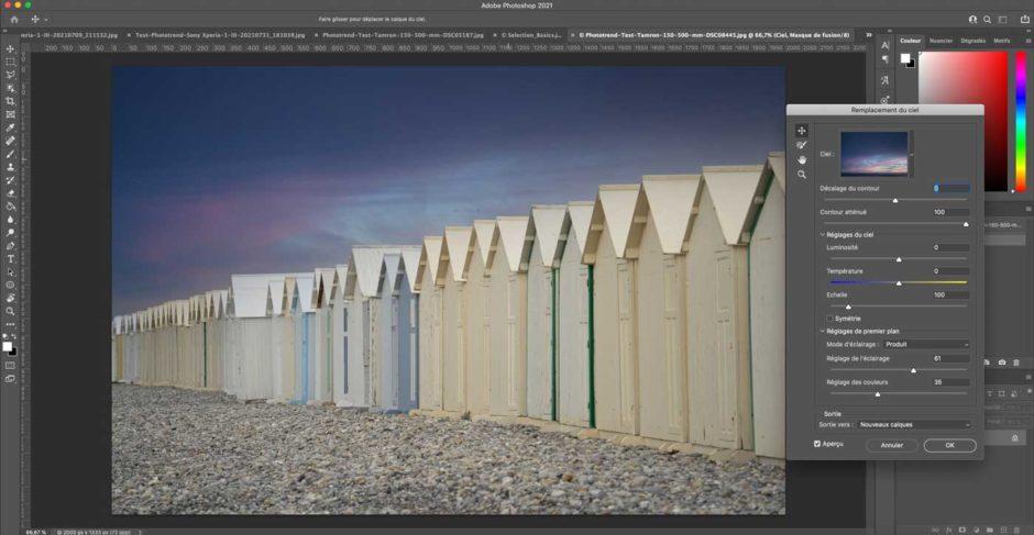 Photoshop remplacement de ciel