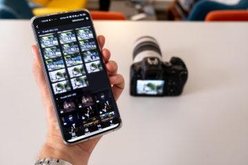Envoyer photo boîtier vers smartphone