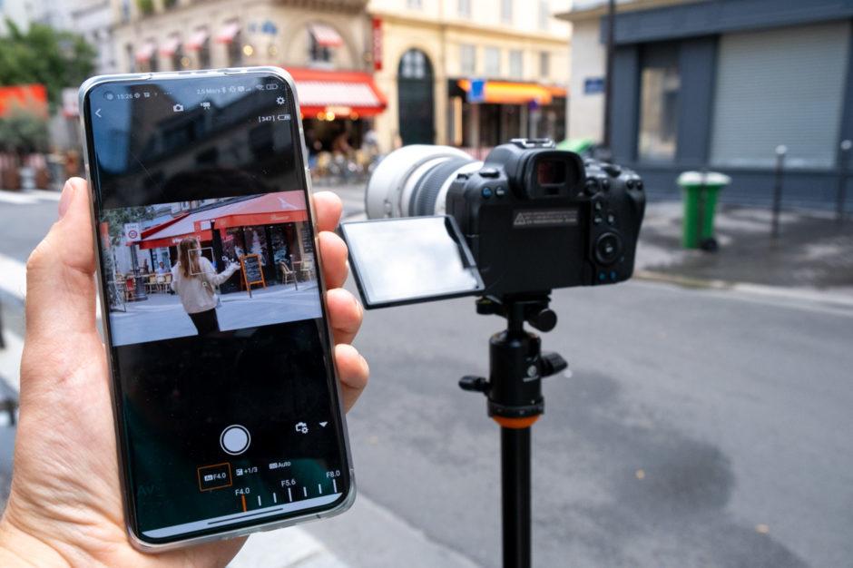 Envoyer photo boîtier vers smartphone contrôle à distance