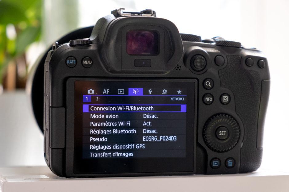 Envoyer photo boîtier vers smartphone fonction Wifi Bluetooth