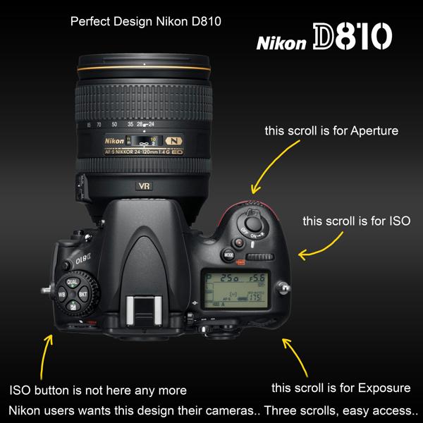 Nikon D810 Molette ISO